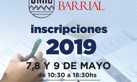 Del 7 al 9 de mayo, la Universidad Barrial inscribe para sus talleres