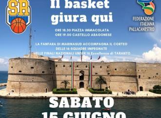 "Basket, finali nazionali Taranto: domani in corteo nel Borgo, poi ""giuramento"" nel Castello <span class=""dashicons dashicons-calendar""></span>"