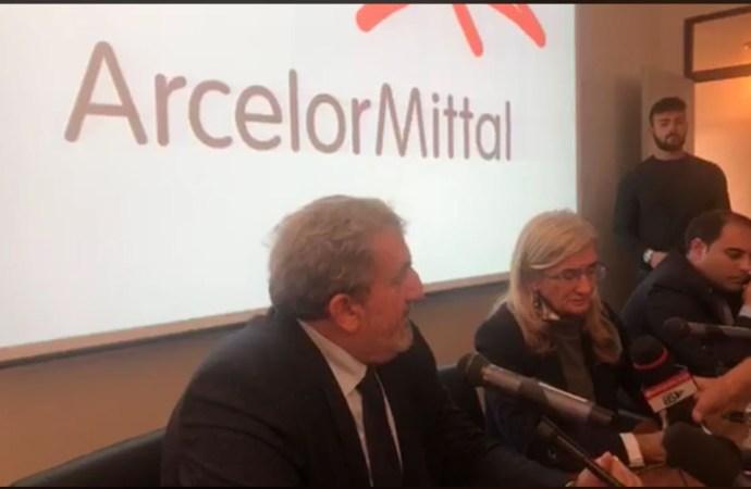 Mittal, la conferenza congiunta Morselli-Emiliano-Melucci