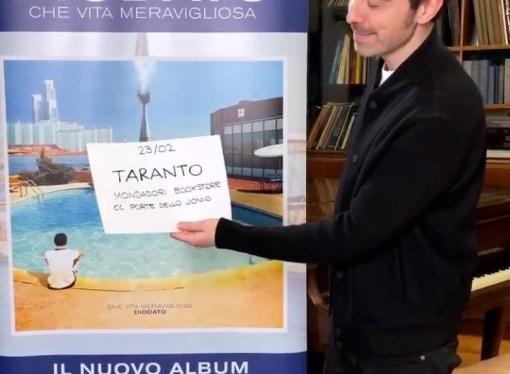 "Diodato il 23 febbraio a Taranto per incontrare i fans <span class=""dashicons dashicons-calendar""></span>"
