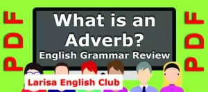 What is an Adverb Grammar Review PDF