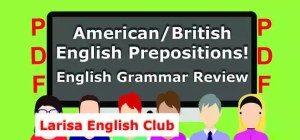 American_British English Prepositions PDF