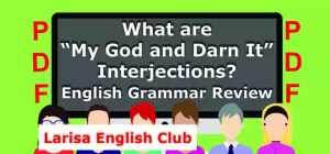 "What are ""My God and Darn It"" Interjections PDF"