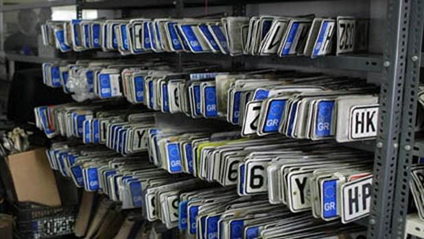 Αυξήθηκε κατά 30% η κατάθεση πινακίδων στη Λάρισα το 2017