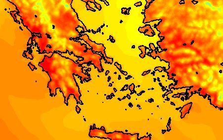 Καιρός: Παίρνει φωτιά η Ελλάδα – Στο κόκκινο ο χάρτης με θερμοκρασίες καύσωνα κοντά στους 40 βαθμούς Κελσίου – Έρχεται και σκόνη