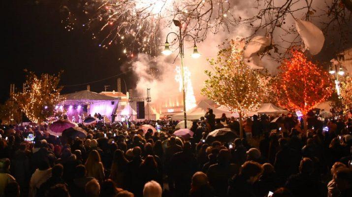Με κέφι, πυροτεχνήματα και αισιοδοξία υποδέχτηκε η Λάρισα το 2019 (ΦΩΤΟ-ΒΙΝΤΕΟ)