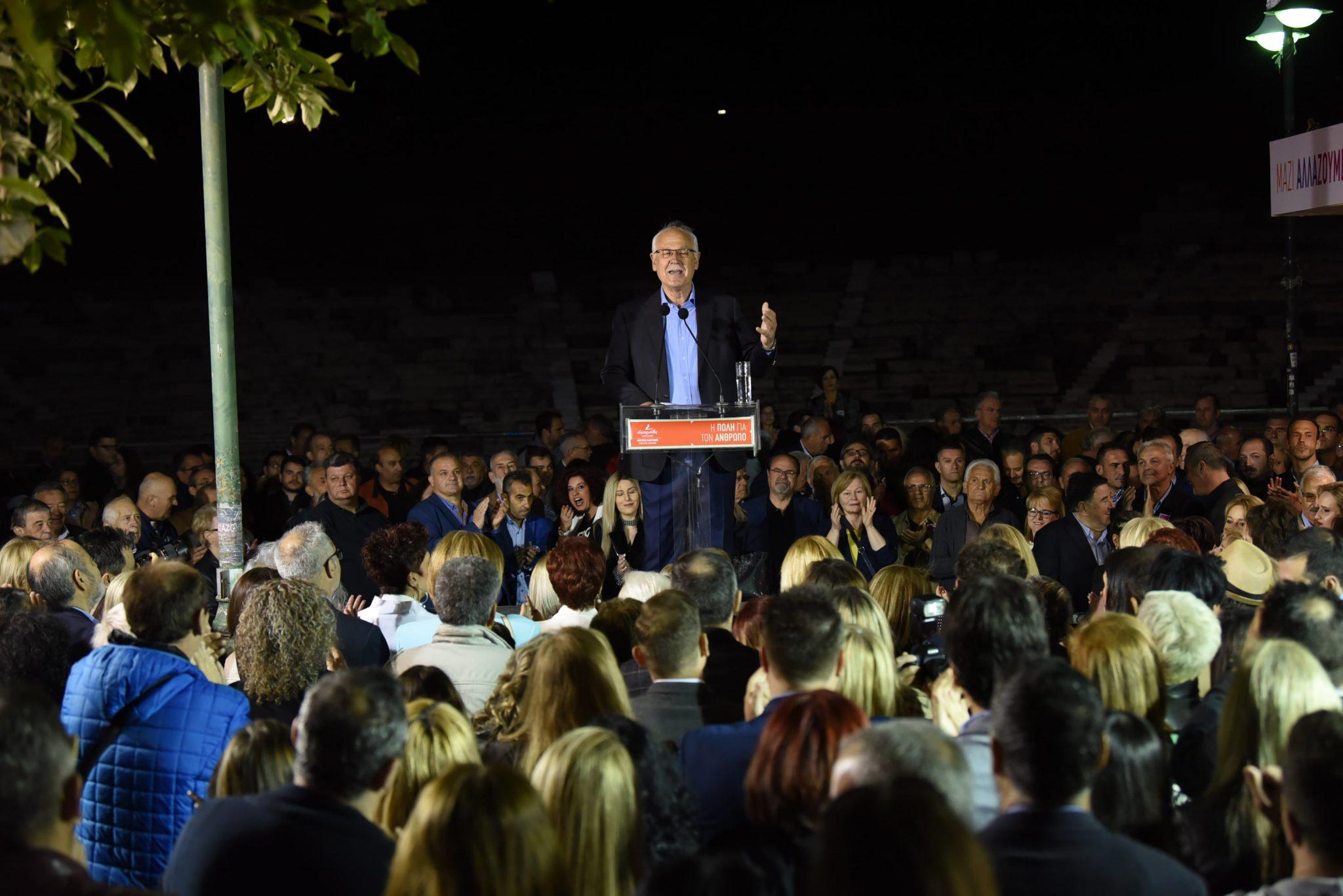Στην Κεντρική Πλατεία αύριο η κεντρική ομιλία του Απόστολου Καλογιάννη