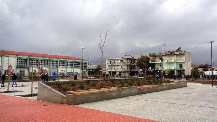 Εγκαινιάζεται νέα πλατεία στη συνοικία Αγίου Γεωργίου στη Λάρισα από τον Απ. Καλογιάννη