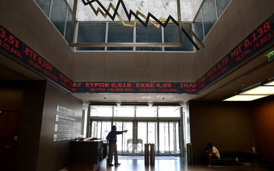 Ισχυρές πιέσεις δέχεται το Χρηματιστήριο Αθηνών