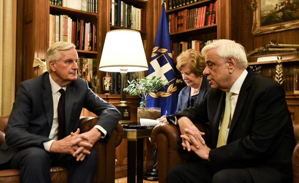 Κυπριακή ΑΟΖ και Brexit στο επίκεντρο της συνάντησης Παυλόπουλου-Μπαρνιέ
