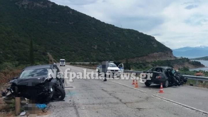 Τροχαίο δυστύχημα στην Ναύπακτο - Νεκρή γυναίκα, τρεις τραυματίες - ΦΩΤΟ