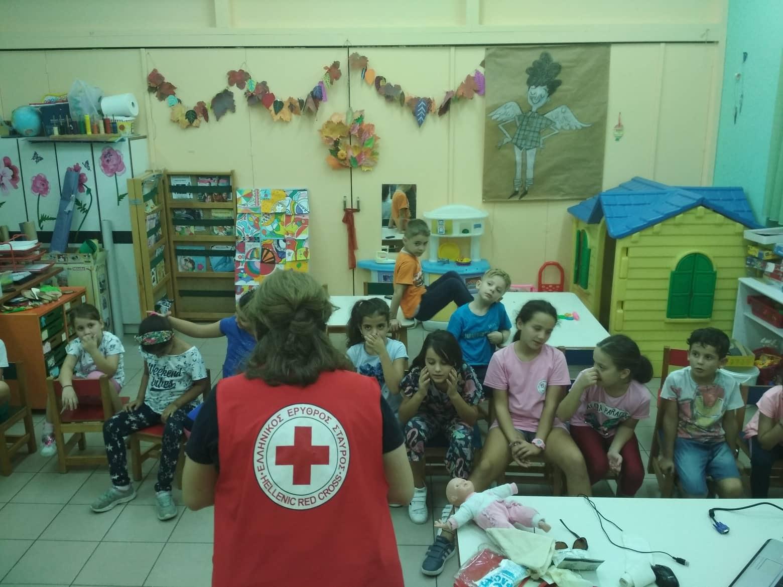 Μαθήματα Πρώτων Βοηθειών  στα Κέντρα Δημιουργικής Απασχόλησης Παιδιών του Δήμου Λαρισαίων από τον Ελληνικό Ερυθρό Σταυρό