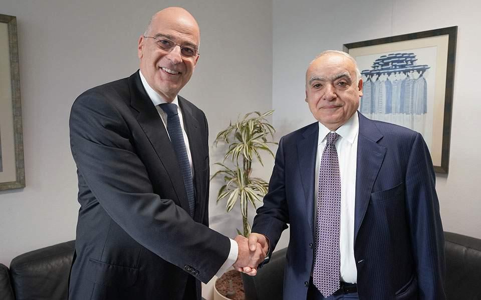 Συνάντηση Ν. Δένδια με τον Ειδικό Εκπρόσωπο ΓΓ ΟΗΕ για Λιβύη Γκ. Σαλαμέ
