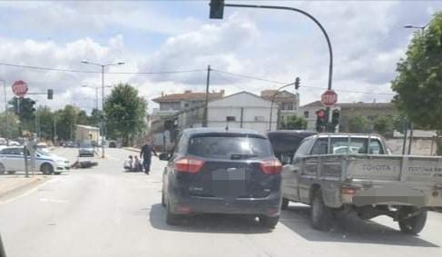 IMG 20200527 135404 - Μηχανάκι παρασύρθηκε από αυτοκίνητο στη Λάρισα