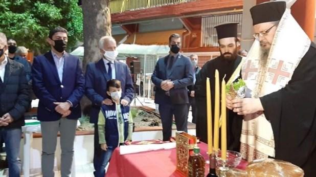 Λάρισα: Στα θυρανοίξια του παρεκκλησίου του Αγ. Νέστορα ο Λ. Αυγενάκης