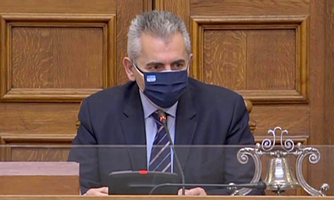 """Χαρακόπουλος στη Βουλή: """"Διαβατήριο ελευθερίας"""" το πιστοποιητικό για τονCOVID-19!"""