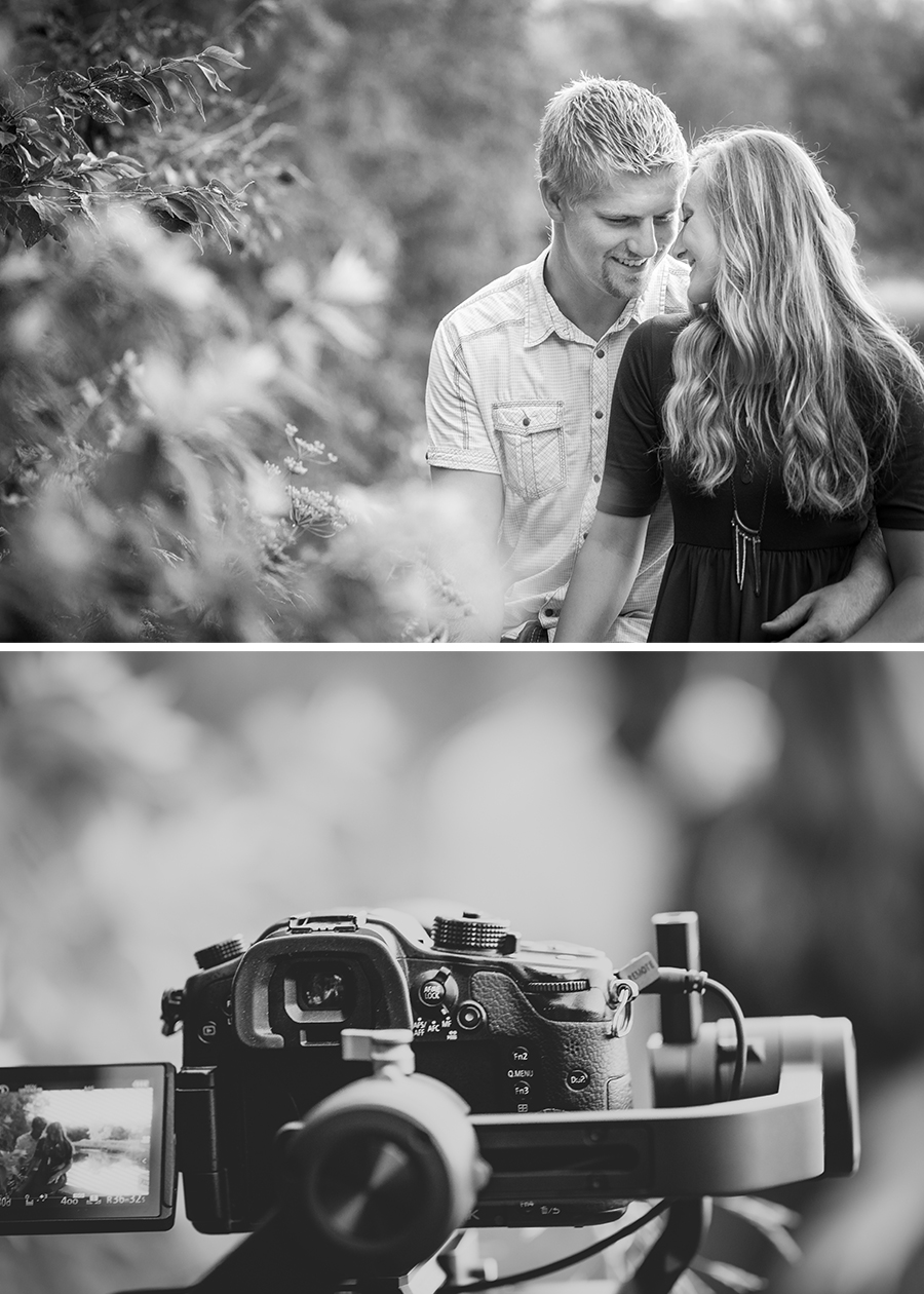 Behind the scenes Love story engagement videography