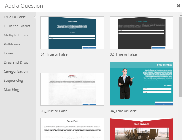 dominKnow ONE question templates