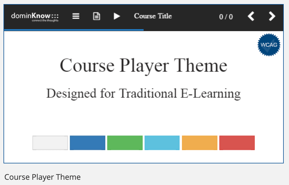 dominKnow ONE course player template
