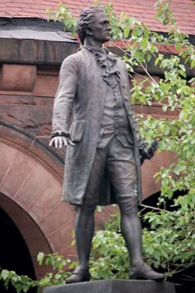 EIRNS/Stuart Lewis  Alexander Hamilton's statue in Manhattan.