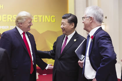 Presidents Trump and Xi Jinping at the APEC Summit, Nov. 11, 2017.