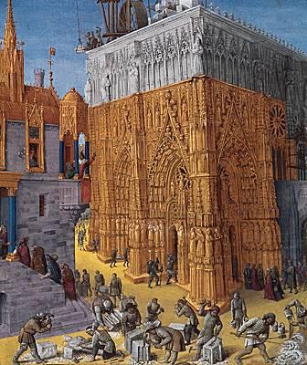 Jean Fouquet, <i>Construction du Temple de Jérusalem par ordre de Salomon</i>
