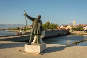 Statue de Branimir, Roi des Croates du 9ème siècle, personnage populaire en Croatie.