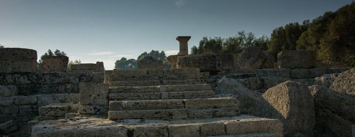 Marches du temple de Zeus - Olympie