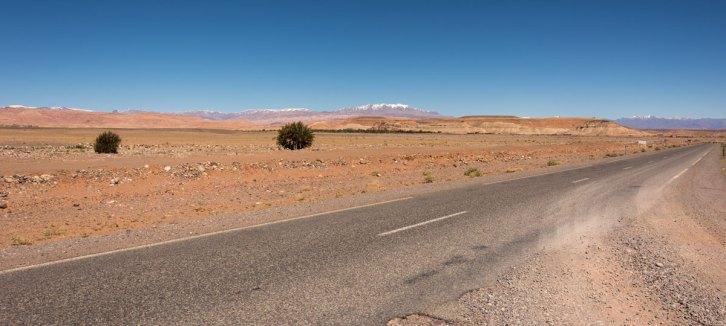 Route et desert