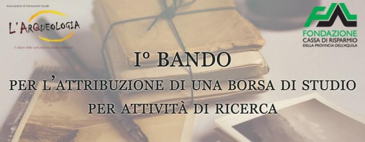 """Bando Per Borsa di Studio """"La Terra dei Barili"""""""