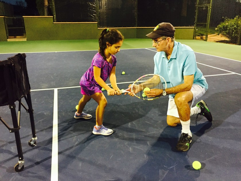 Larry Loeb Teaching Tennis
