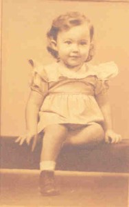 Photo of Joyce at about 18 months.