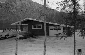 The house Harry & Madeline built after tearing down the old cabin. This photo was taken in Dec. 1976.
