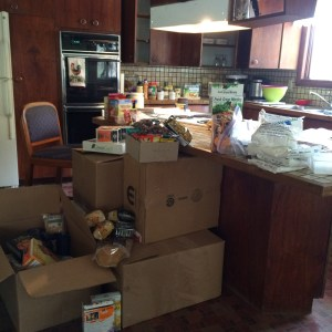 It piling up in the kitchen at Chugiak!