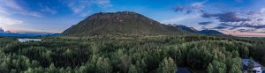 Bear mountain from three photos taken at 11:00pm
