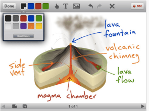 Screenshot from Educreations -- an iPhone app that lets teachers & students create video lessons