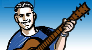 Justin Kitch plays guitar when he's not starting companies (image: ceounplugged)