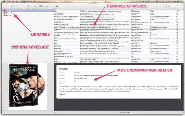 DVD Hunter User Interface Explained
