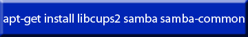 Command Line Get and install Samba Example