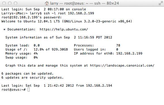 SSH Login Example