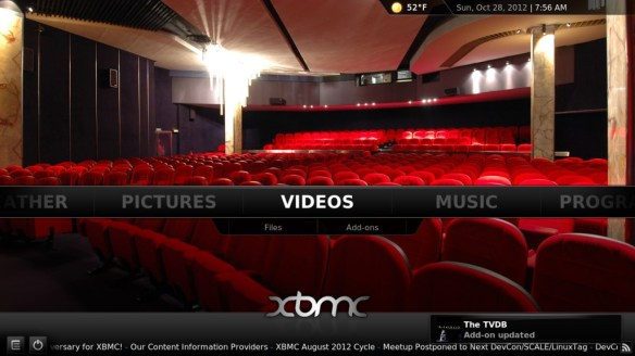 XMBC Screen Shot 1