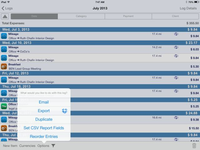 IMG_0178 BizXpenseTracker For iPad and iPhone - Mileage, Expense, and Time Tracking How To iPad Product Reviews Tips