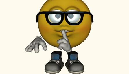 Shhh Emoticon - LarryTalksTech.com