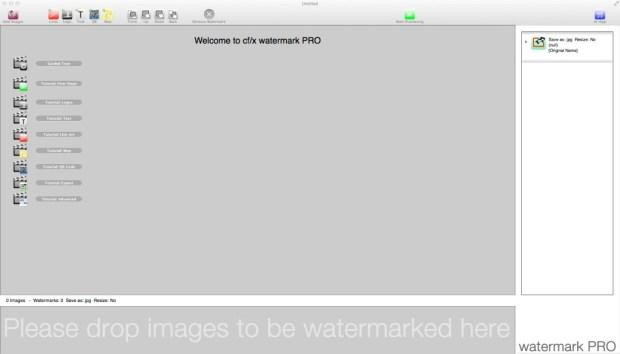 CF/X Watermark Pro Interface