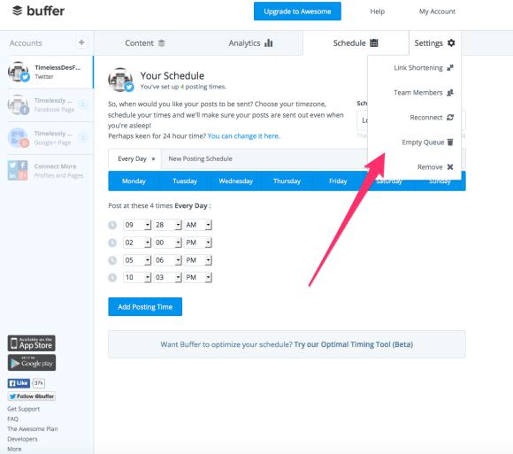 Buffer-Settings Buffer - A Freemium Social Media Manager How To Product Reviews Social Media