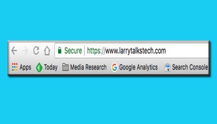 LarryTalksTech with HTTPS