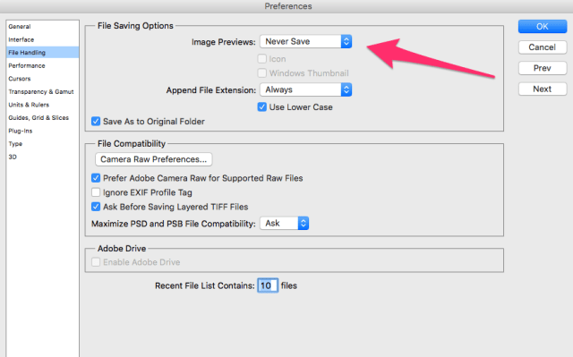 """Preferences Fix Error """"Photoshop Could Not Save File Because Write Access Was Not Granted"""" Digital Photgraphy & Artwork How To OS X Tips"""