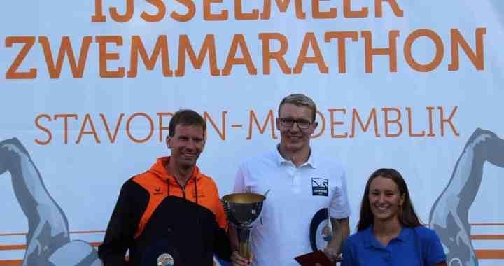 Podium IJsselmeermarathon 2017