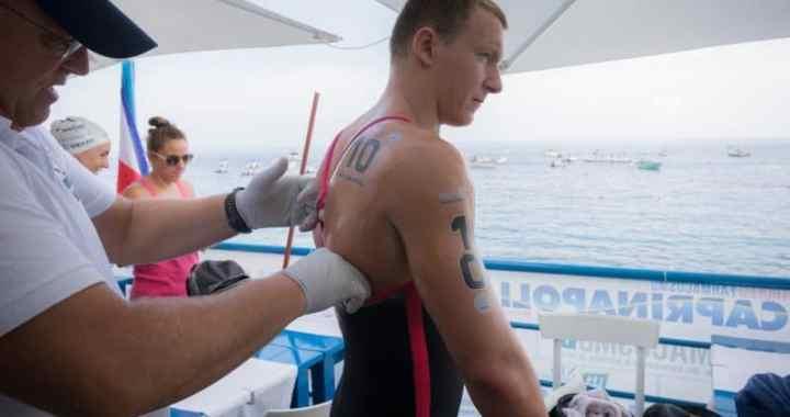 Lars Bottelier mee met Powerweek Openwaterswimmingclub Lanzarote