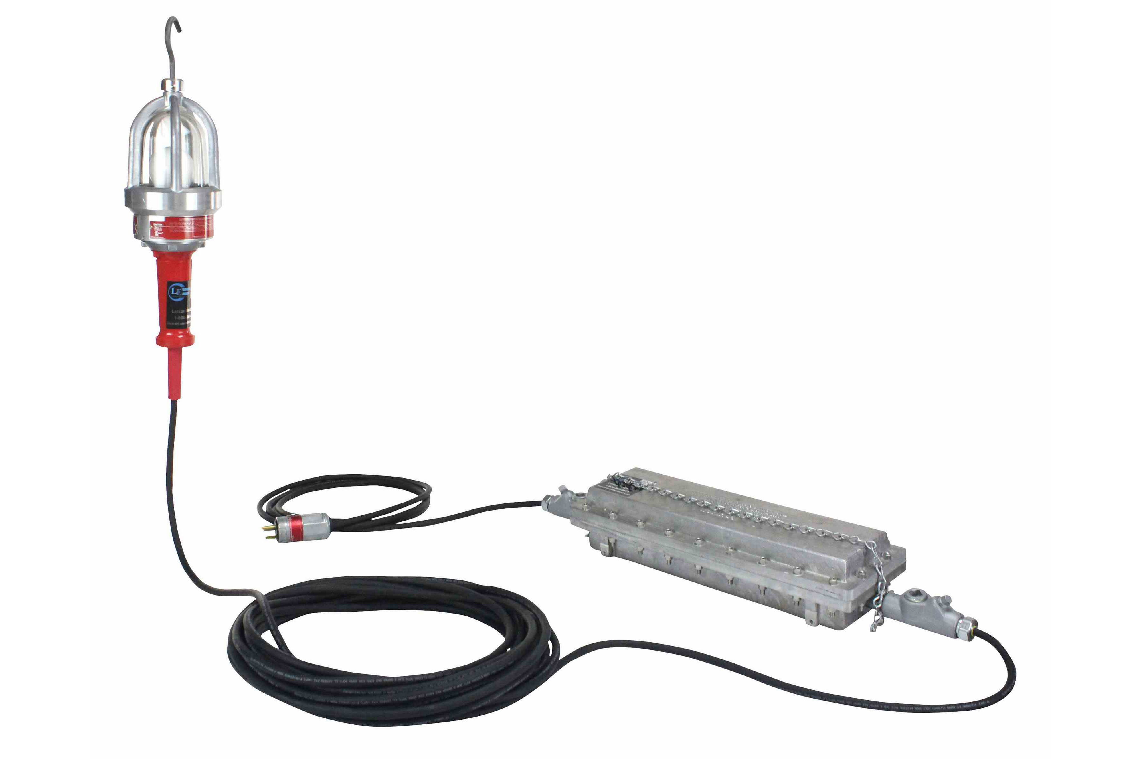 Explosion Proof Drop Light Hand Lamp With C1d2 Inline Transformer